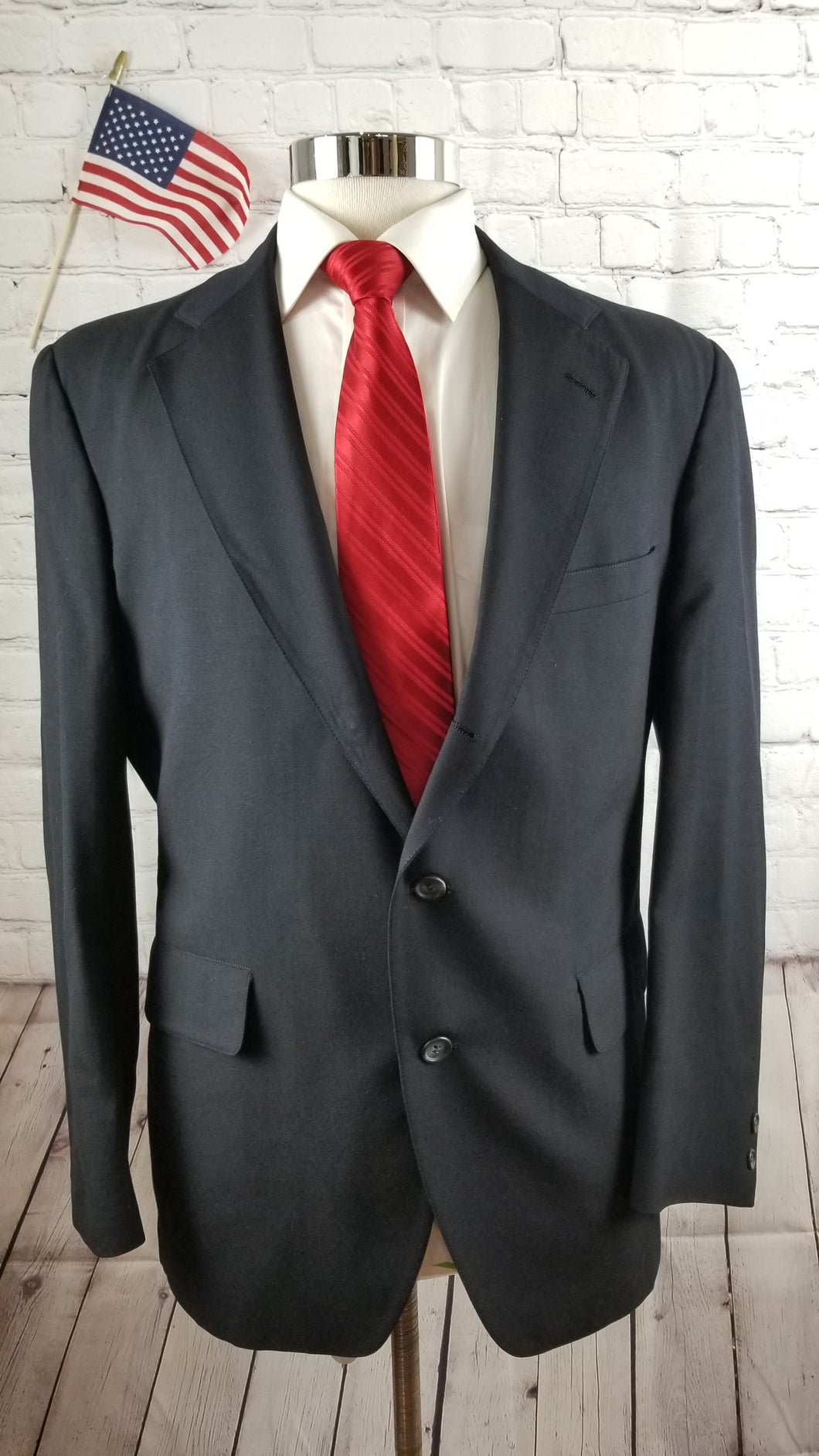 Jos A. Bank Navy Blue Solid Suit Jacket 42R $538 - SUIT CHARITY OUTLET