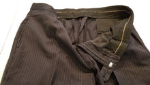 Joseph Aboud Navy Blue Stripe Wool Suit 46R Pants 42X30 $879 - SUIT CHARITY OUTLET