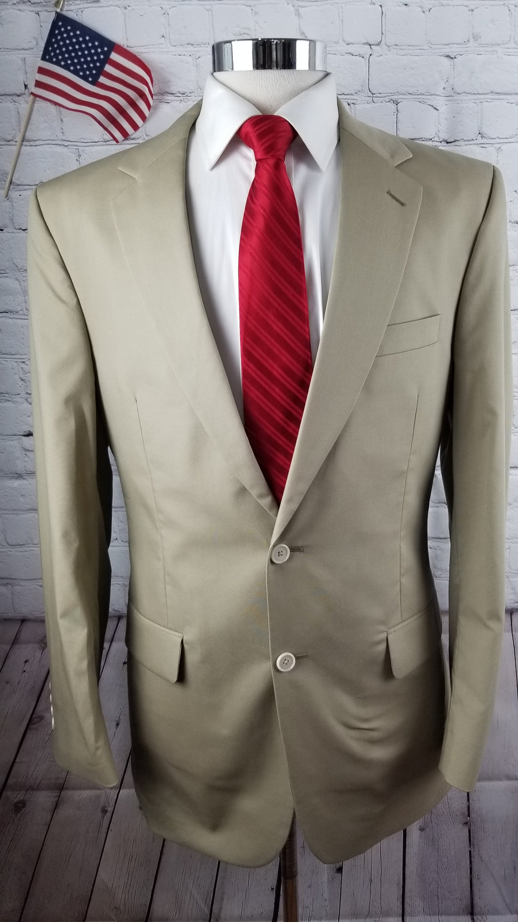 Jos. A Bank Beige Solid Suit 40L Pants 34X32 $795 - SUIT CHARITY OUTLET