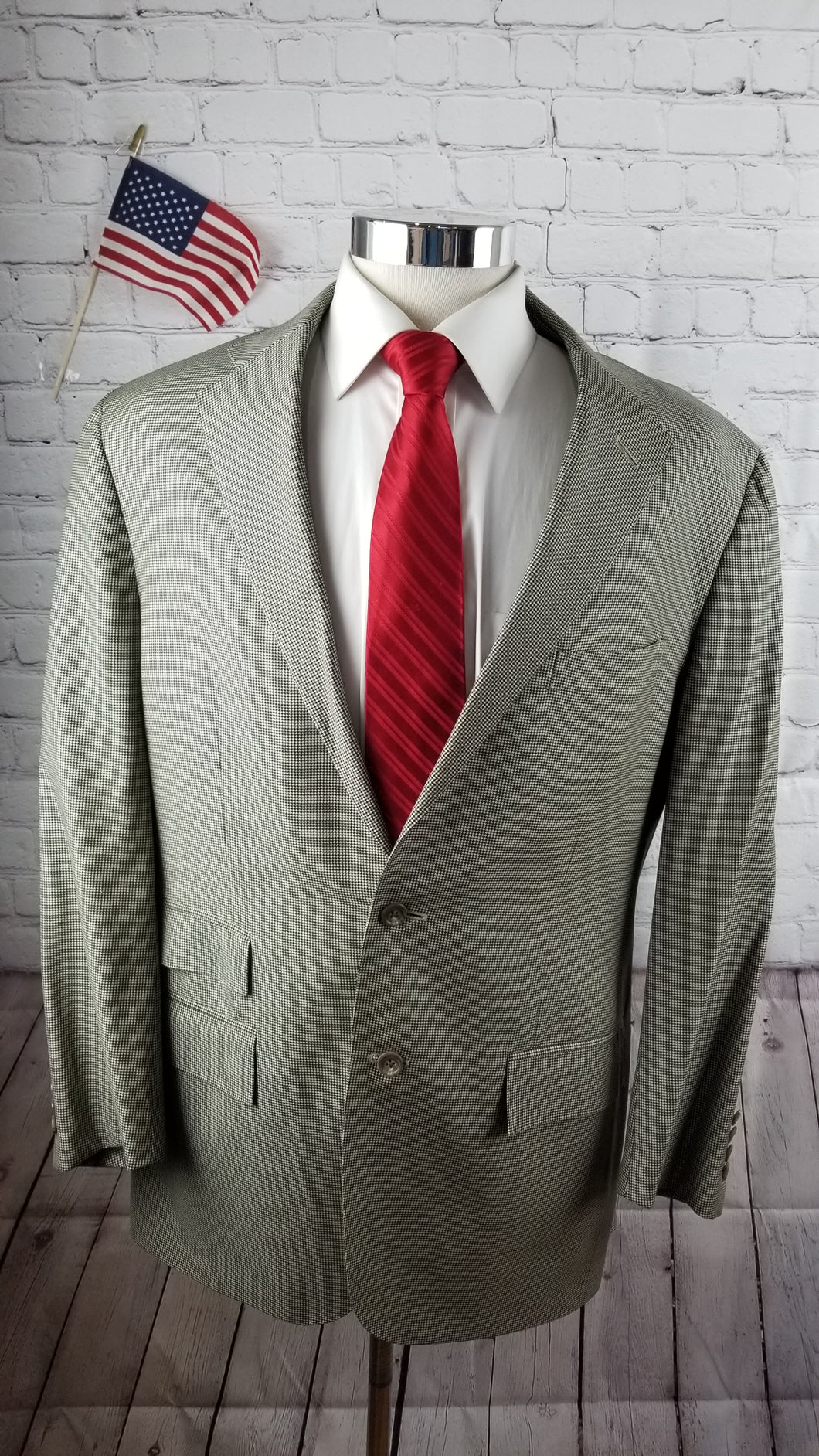 Ralph Lauren Brown Check Wool Suit 42R Pants 34X30 $598 - SUIT CHARITY OUTLET