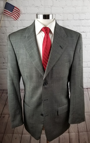 Clairborne Textured Suit 40L Pants 44X32 $325 - SUIT CHARITY OUTLET