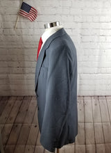 Oakton Navy Blue Stripe Suit 42L Pants 34X30 $349 - SUIT CHARITY OUTLET