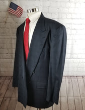 Mark Shale Navy Blue Check Suit 44L Pants 38X34 $398 FREE PANTS!!! - SUIT CHARITY OUTLET
