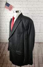 Calvin Klein Black Stripe Suit 46R Pants 40X32 $595 - SUIT CHARITY OUTLET