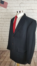 Nautica Men's Navy Blue Solid WOOL Suit 44 Waist 40 Inseam 32 $595 - SUIT CHARITY OUTLET