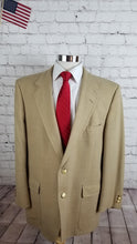 Palm Beach Men's Beige Plaid Blazer Sport Coat Suit Jacket Size 48R $495 - SUIT CHARITY OUTLET