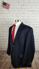 Joseph and Feiss Men's Navy Blue WOOL Blazer Sport Coat Suit Jacket Size 48R $395 - SUIT CHARITY OUTLET