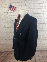 Custom Made Men's Navy Blazer Sport Coat Suit Jacket Size 44R $328