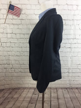 Talbots Women's Navy Stripe 2 Button Skirt Suit Size 4