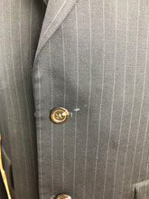 Chaps Men's Navy Stripe Wool Blazer Sport Coat Suit Jacket Size 42L $245 - SUIT CHARITY OUTLET