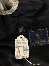 SAS944 brooks brothers navy solid suit - SUIT CHARITY OUTLET