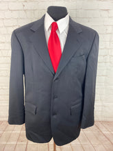 Nautica Men's Solid Black Wool Blazer 42R $395 - SUIT CHARITY OUTLET
