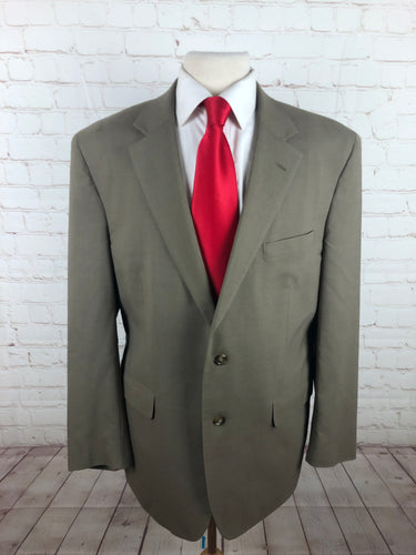 Jos A. Bank Beige Solid Suit - SUIT CHARITY OUTLET