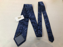 NEW Nautica Men's Navy Blue Paisley Silk Tie - SUIT CHARITY OUTLET