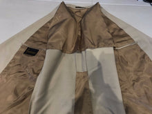 Custom Made Men's Beige Two Button Blazer 42R - SUIT CHARITY OUTLET