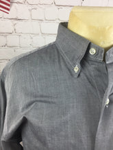 Sas184 Lauren Ralph Lauren Gray Textured Dress Shirt