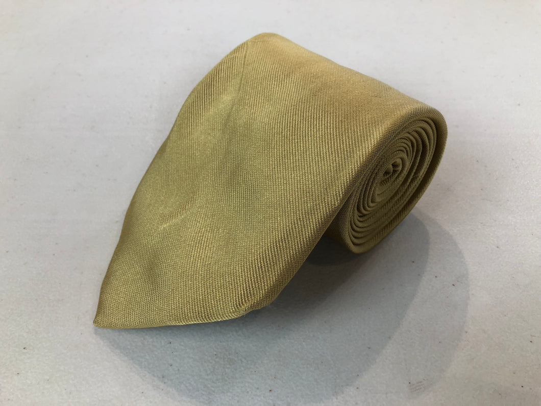 Brooks Brothers Men's Gold Silk Neck Tie - SUIT CHARITY OUTLET