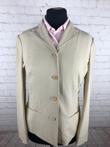 Lauren Ralph Lauren Women's Solid Beige Wool Blend Blazer Size 8 $225 - SUIT CHARITY OUTLET