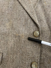 Custom Men's Brown Herringbone Wool Blazer 42R $225 - SUIT CHARITY OUTLET
