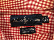 Ralph Lauren Men's Red Plaid Cotton Button Down Dress Shirt 16.5 32/33