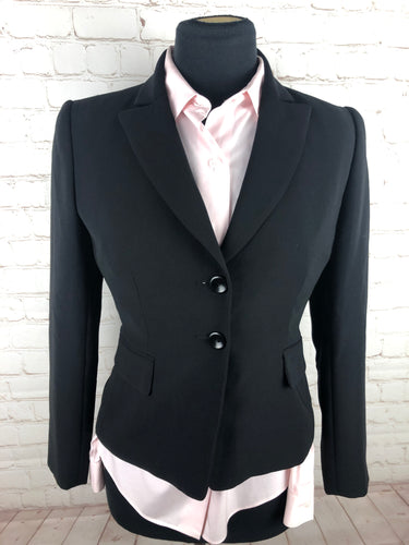 Tahari Black Solid Woman's Blazer $225 - SUIT CHARITY OUTLET