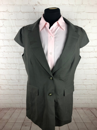 Worth Women's Solid Green Blazer Size 14 $395 - SUIT CHARITY OUTLET