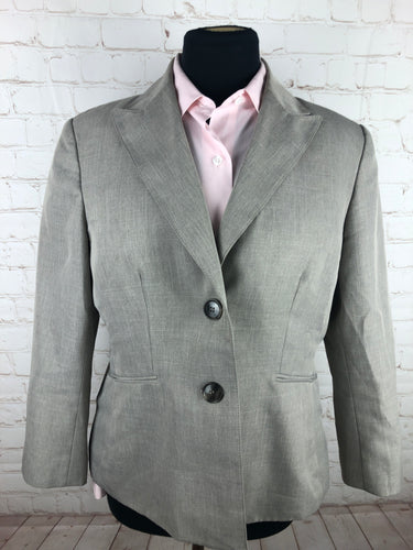 Kasper Gray Textured Woman's Blazer $225 - SUIT CHARITY OUTLET