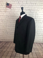 Haggar Men's Brown 3 Button Blazer Sport Coat Suit Jacket Size 44R $215 - SUIT CHARITY OUTLET