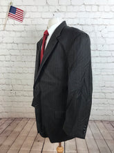 Joseph Abboud Men's Brown Stripe Wool Suit 48R Pants 41X29 $985 - SUIT CHARITY OUTLET