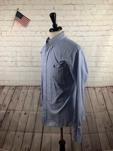 Ralph Lauren Men's Blue Stripe Cotton Button Down Dress Shirt 16.5 34/35 - SUIT CHARITY OUTLET