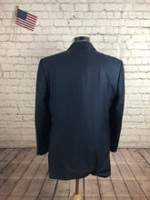 Frank Dalvin Men's Navy Stripe Blazer Sport Coat Suit Jacket Size 40R $495