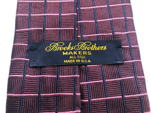 Brooks Brothers Men's Burgundy Check Silk Neck Tie - SUIT CHARITY OUTLET