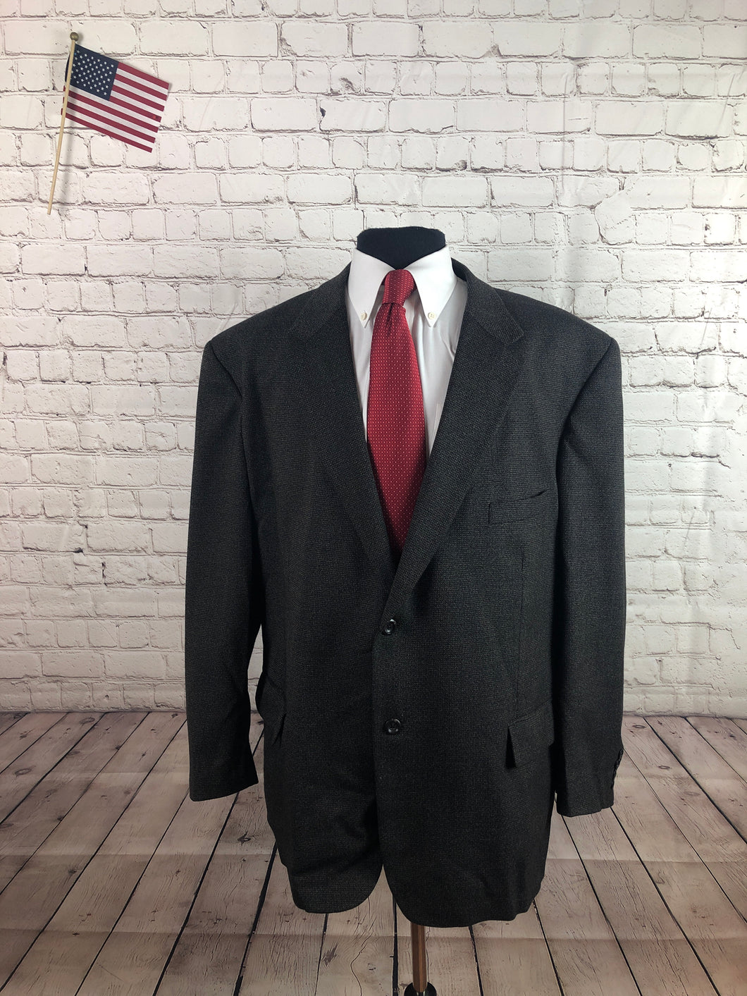 Pronto Uomo Men's Brown Wool Blend 2 Button Big & Tall Blazer Sport Coat Suit Jacket Size 52R $298 - SUIT CHARITY OUTLET
