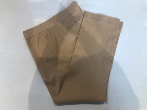 J Crew Women's Beige Cotton Stretch Dress Pants Size 2 - SUIT CHARITY OUTLET