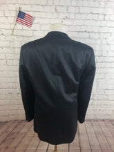 Albert Nipon Men's Black Stripe Suit Size 42L Waist 35 Inseam 32 $495