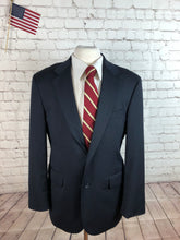 Stafford Men's Navy Stripe WOOL Blazer Sport Coat Suit Jacket 44R $395