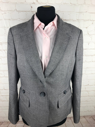 Le Suit Women's Gray Solid Blazer Size 12 $125 - SUIT CHARITY OUTLET