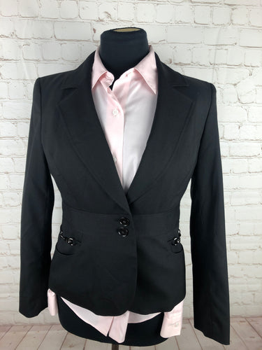 Kasper Black Solid Women's Blazer $225 - SUIT CHARITY OUTLET