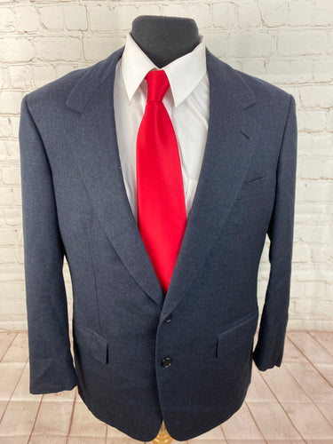 Brioni Men's Navy Blue Plaid Wool Blazer 42R $3,895 - SUIT CHARITY OUTLET