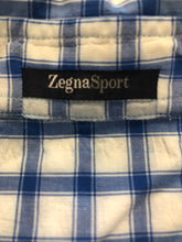 Ermenegildo Zegna Men's Blue Plaid Cotton Dress Shirt XXL - SUIT CHARITY OUTLET