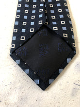 Jos. A. Bank Blue Square Geometric Silk Tie $125 - SUIT CHARITY OUTLET