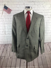 Jos. A. Bank Men's Gray Plaid Silk-Wool Blazer Sport Coat Suit Jacket 42S - SUIT CHARITY OUTLET
