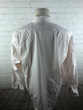 Nordstrom Peach Striped Cotton Dress Shirt 16.5 32/33 $125 - SUIT CHARITY OUTLET