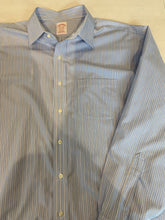 Brooks Brothers Men's Blue Striped Dress Shirt 17.5 - 35/36 - SUIT CHARITY OUTLET