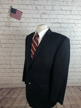 Calvin Klein Men's Black Stripe Wool Suit 42S 34X28 - SUIT CHARITY OUTLET