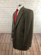Stafford Men's Brown Plaid 2 Button Blazer Sport Coat Suit Jacket Size 44R $295