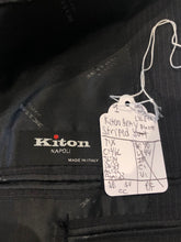 Kiton Men's Gray Stripe WOOL Blazer Sport Coat Suit Jacket 46L $5,995 - SUIT CHARITY OUTLET