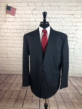 Stafford Men's Navy Stripe Wool 2 Button Suit 46R Waist 36 Inseam 29