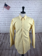 Ralph Lauren Men's Yellow Cotton Button Down Dress Shirt 16.5-33 - SUIT CHARITY OUTLET
