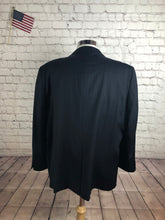 Corelli Men's Black Stripe Wool Blend Blazer Sport Coat Suit Jacket Size 52R $495 - SUIT CHARITY OUTLET
